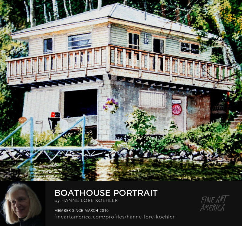order your boathouse portrait painting from photo online