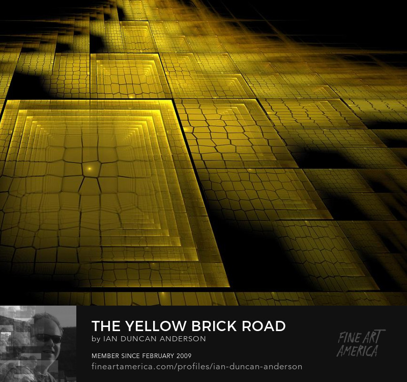 buy print of 'The yellow brick road' at Fine Art America