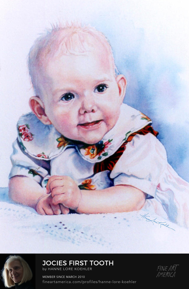 Baby Portrait Painting