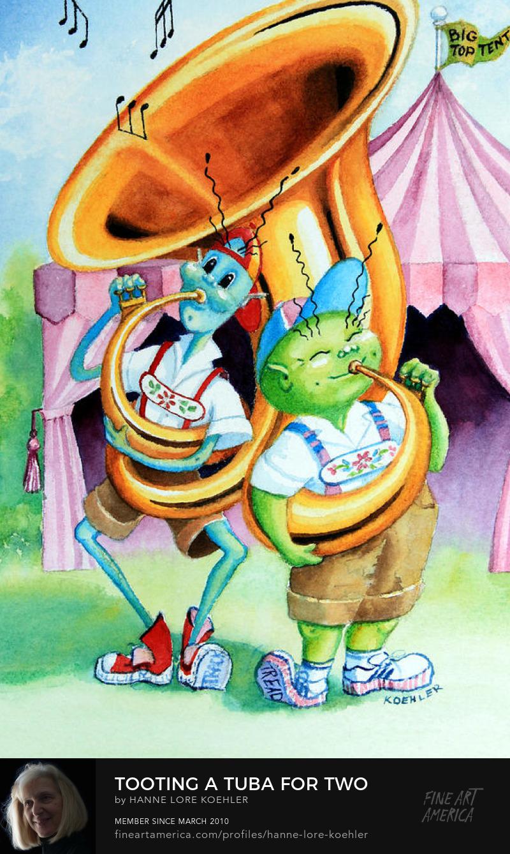 Fun Tuba Tuba Art For Kids