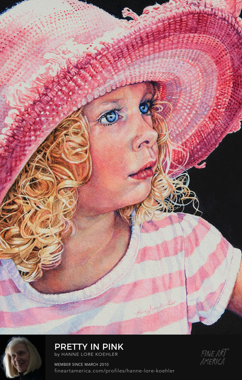 Portrait Art Prints Of A Young Girl