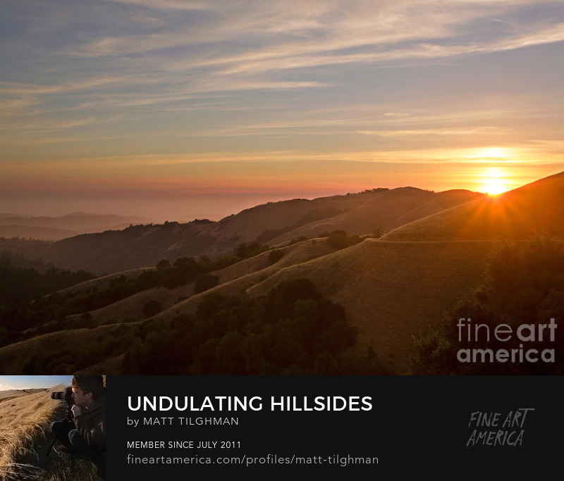 Sunset in Russian Ridge California Art Prints