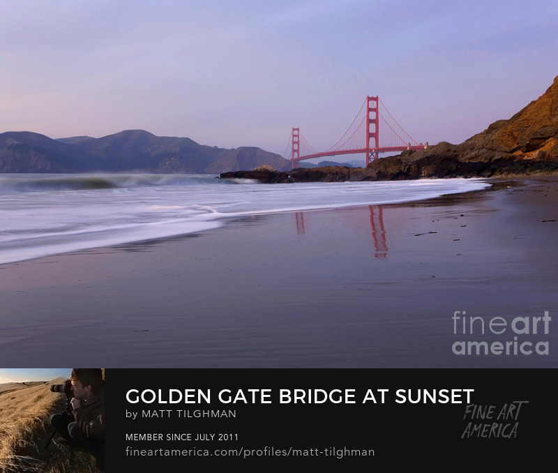 Golden Gate Bridge Baker Beach Art Print