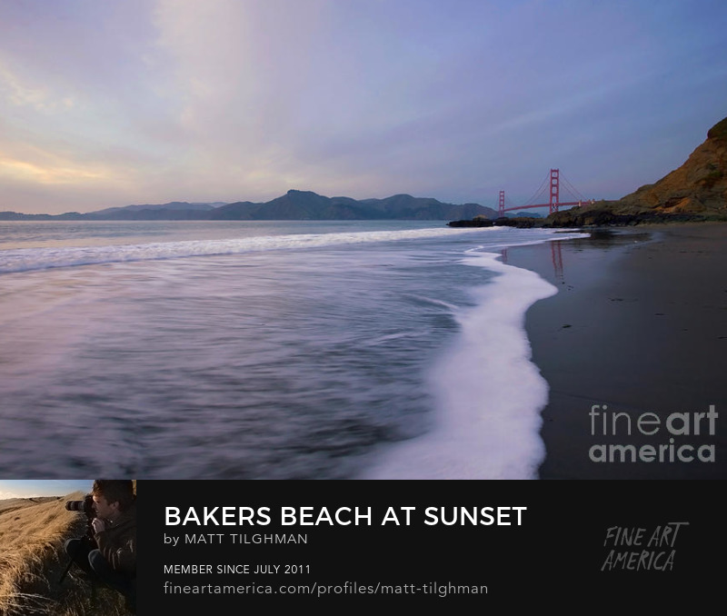 Baker Beach San Francisco Art Print