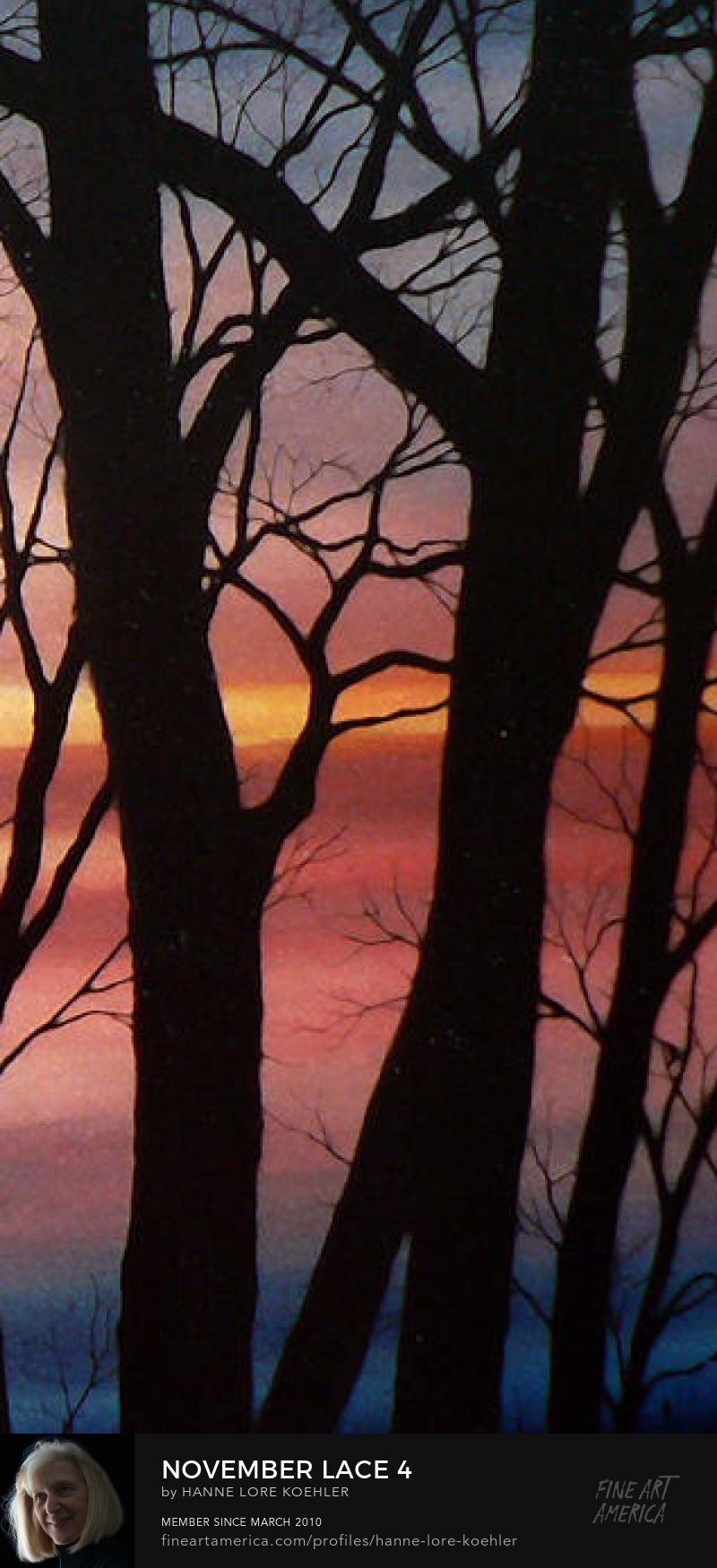 Sunset Silhouette Art Prints