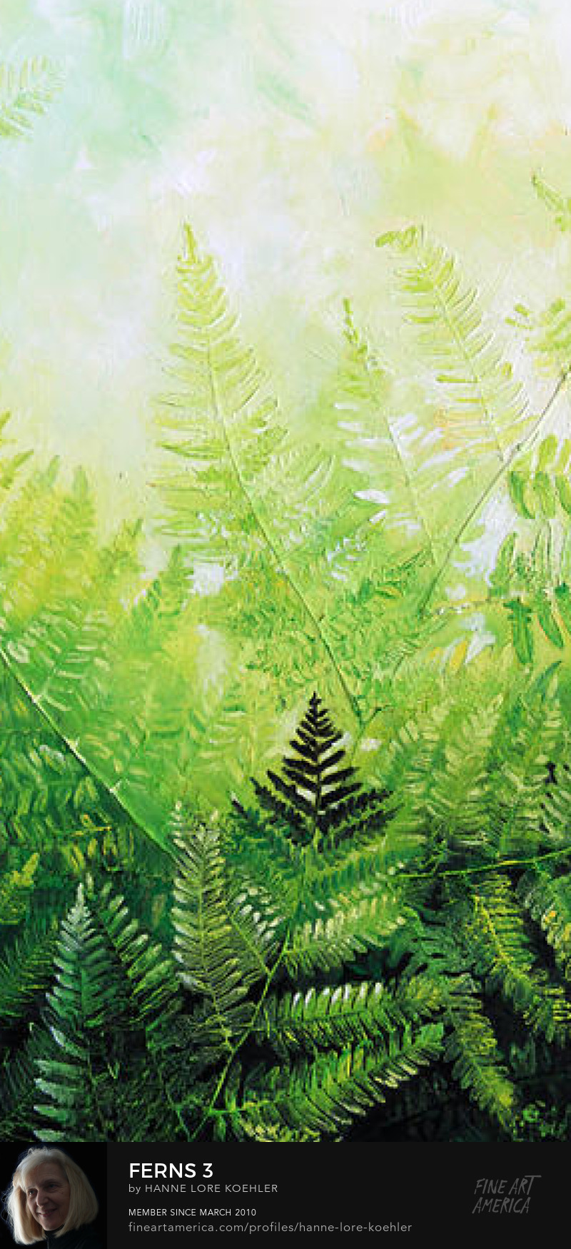Multi-canvas Fern paintings and Art Prints