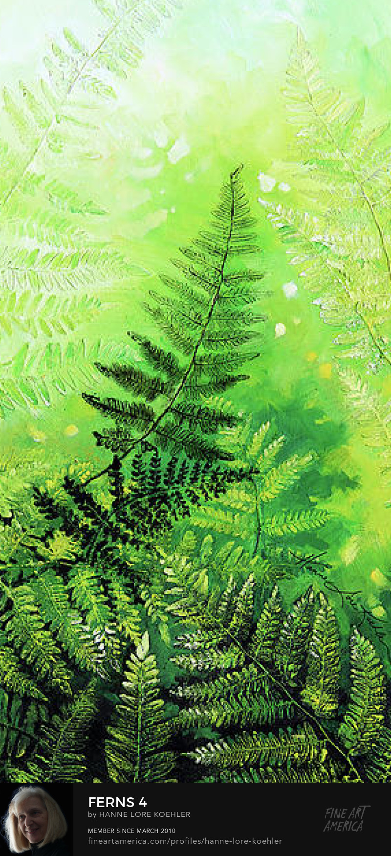 impasto painting of ferns