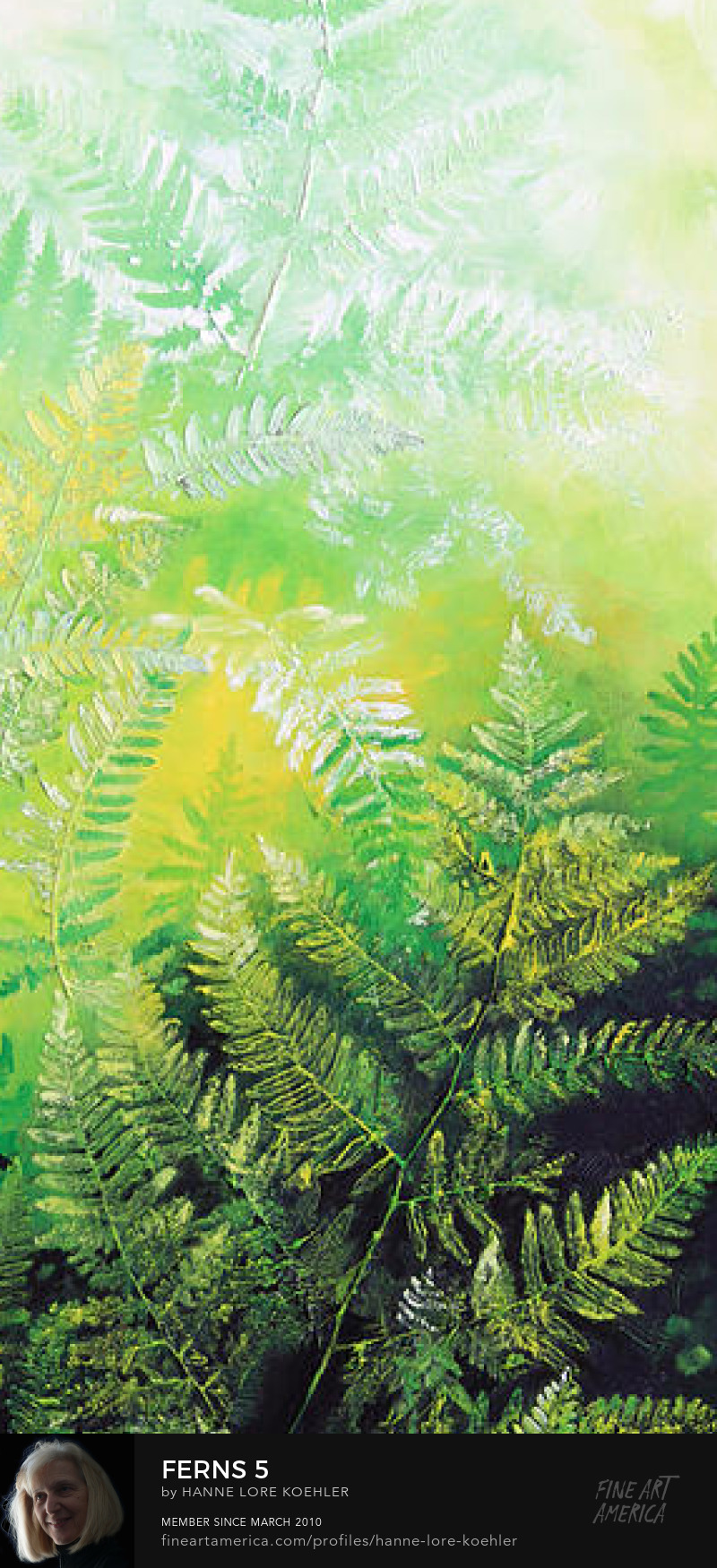 buy 5-canvas fern painting online