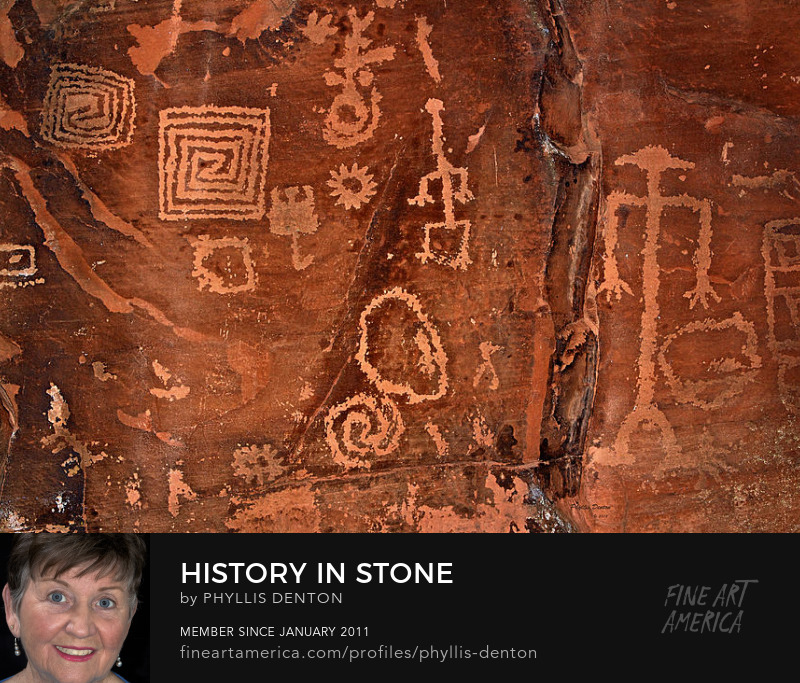 History In Stone Southwest art by Phyllis Denton