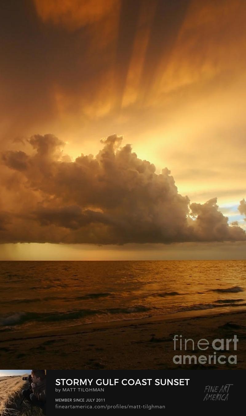 Gulf Coast Sunset Art Prints