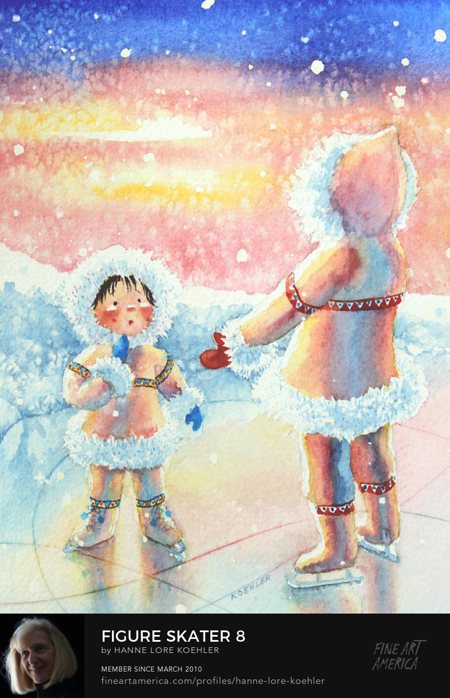 winter sports Art Prints for kids