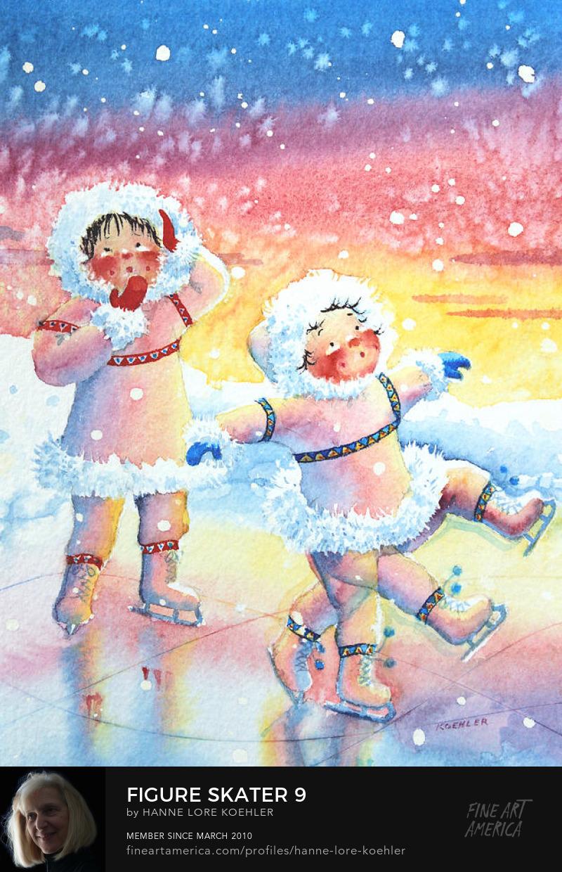 figure skating art for kids