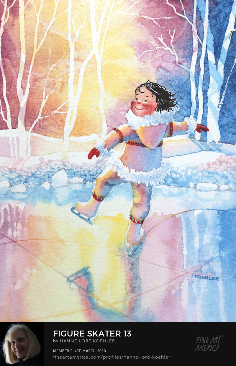 skating storybook illustration