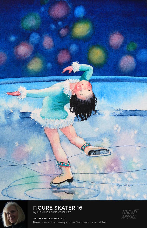 Figure Skating Art Prints for kids