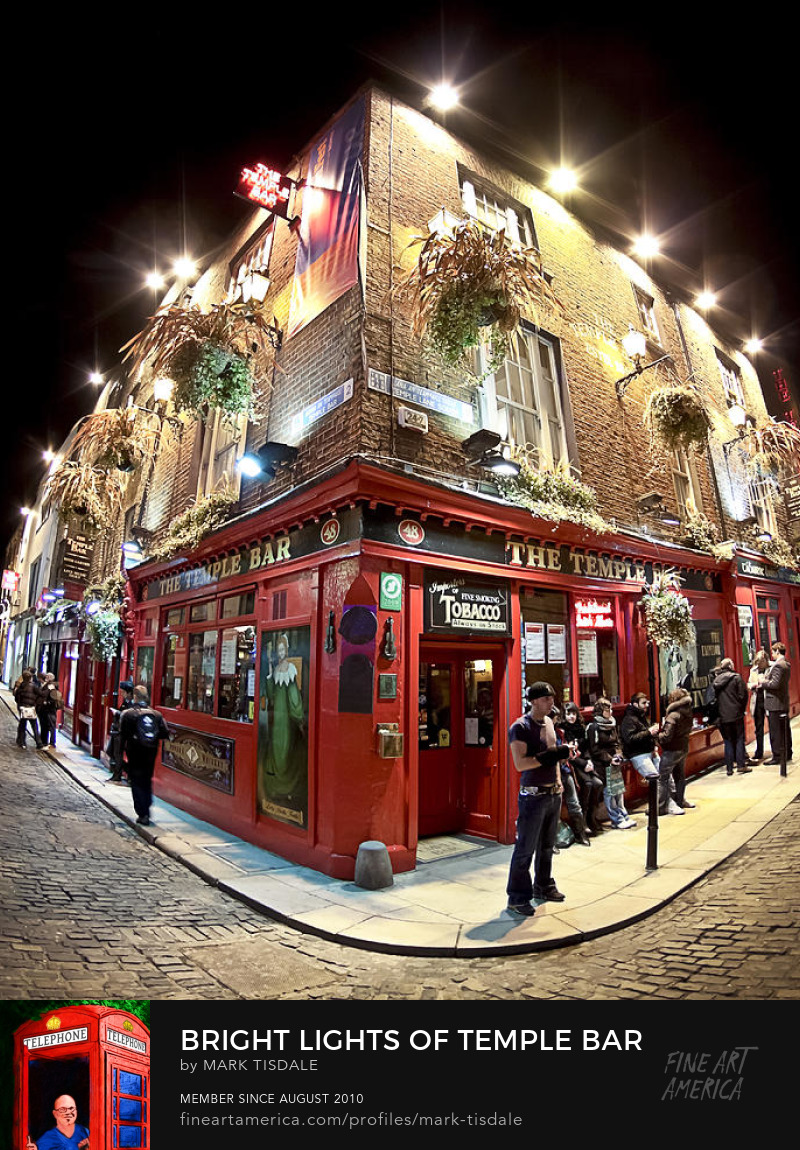 Dublin Ireland Trinity Bar at Night