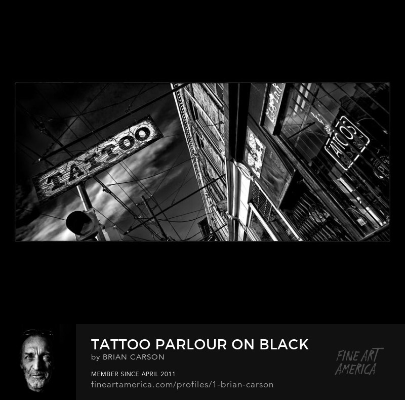 Tattoo Parlour On Black by The Learning Curve Photography on Pixels