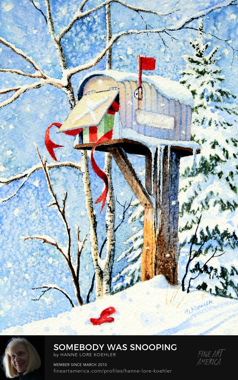 Country Mailbox Christmas Card