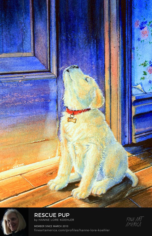 Retriever Puppy Painting