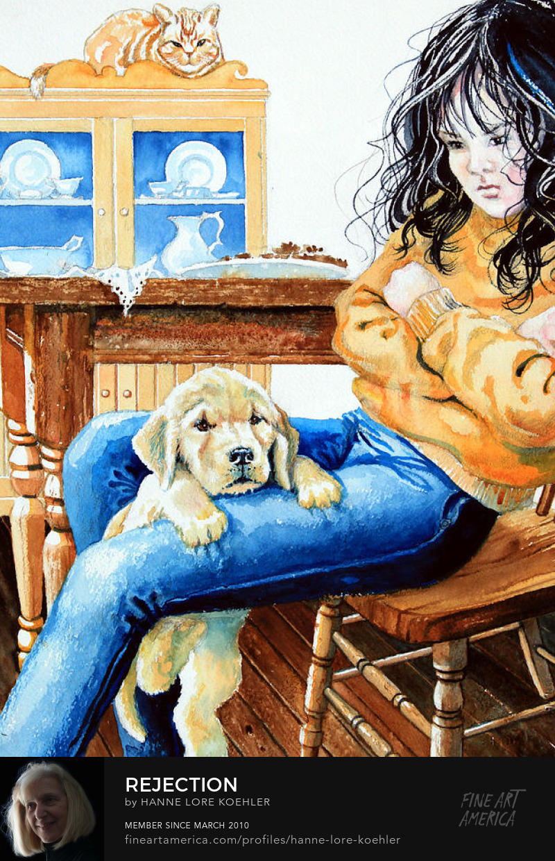 Book Illustration Girl With Puppy