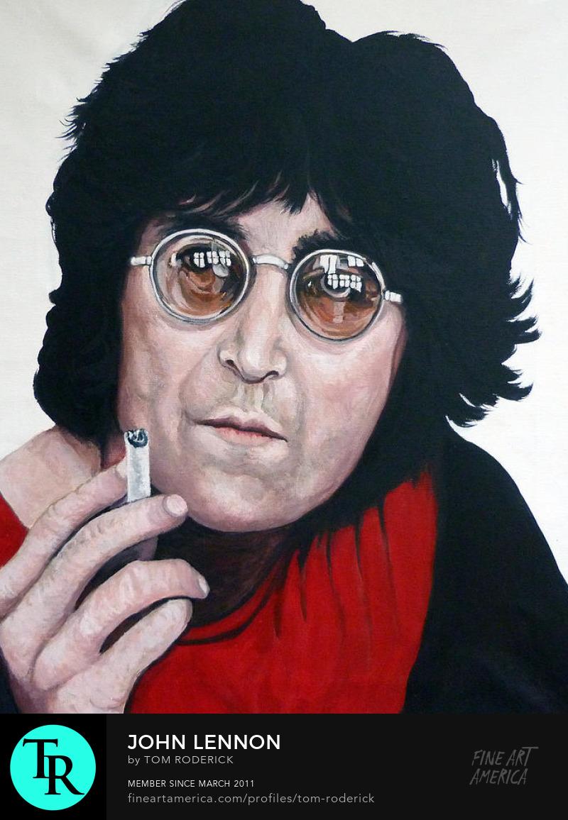 Tribute to John Lennon by Boulder portrait artist Tom Roderick