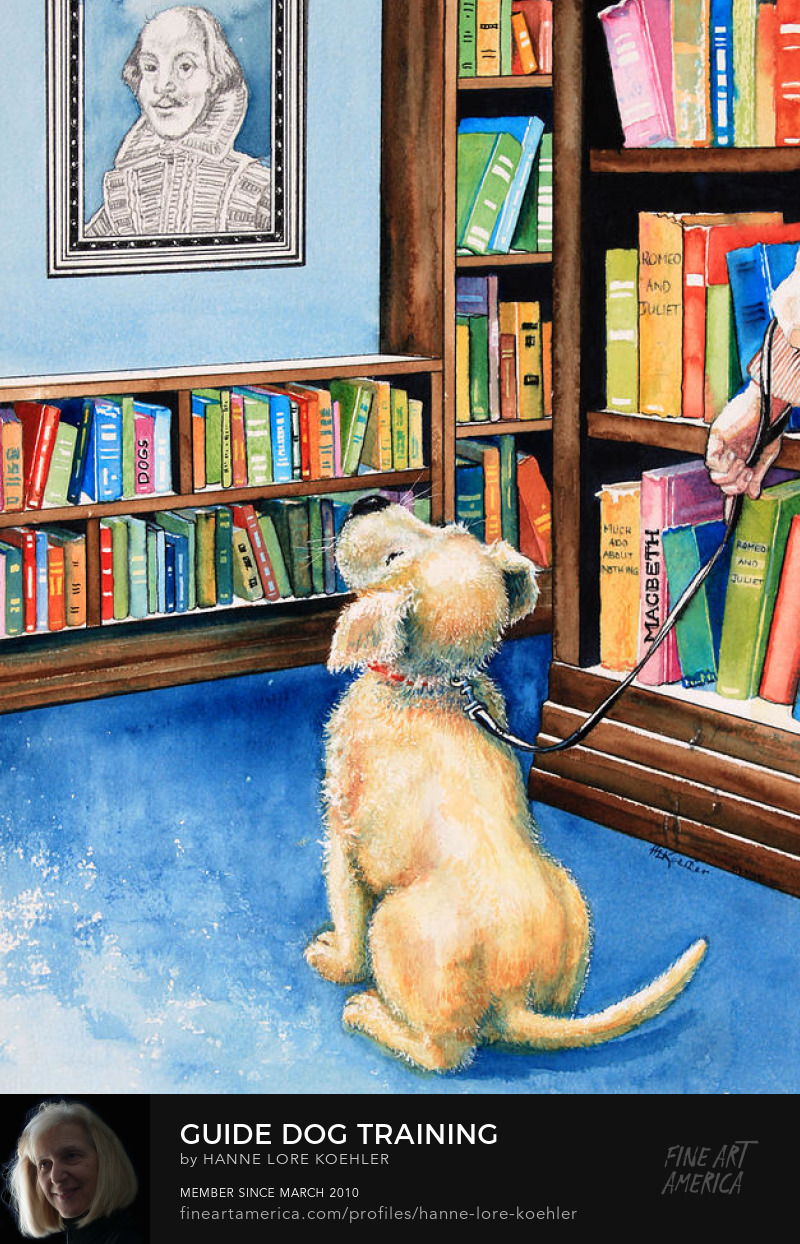 Guide dog illustration