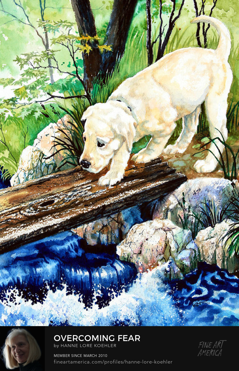 Puppy Painting And Art Prints