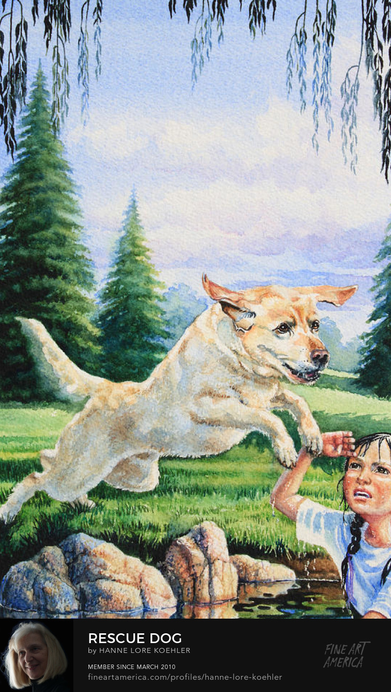 Rescue Dog Painting And Art Prints