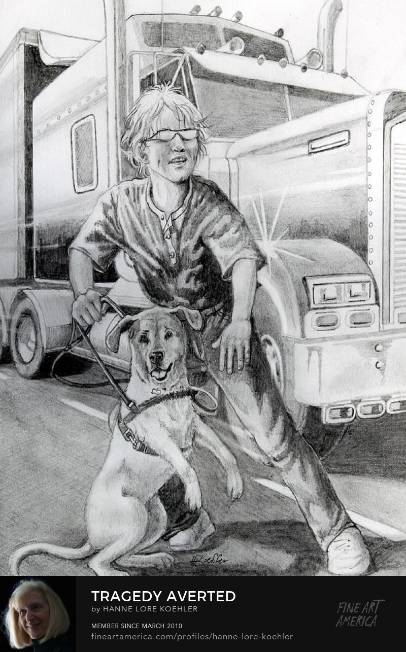 Service Dog Drawing