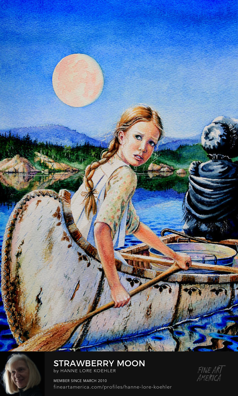 Birch Bar Canoe Painting
