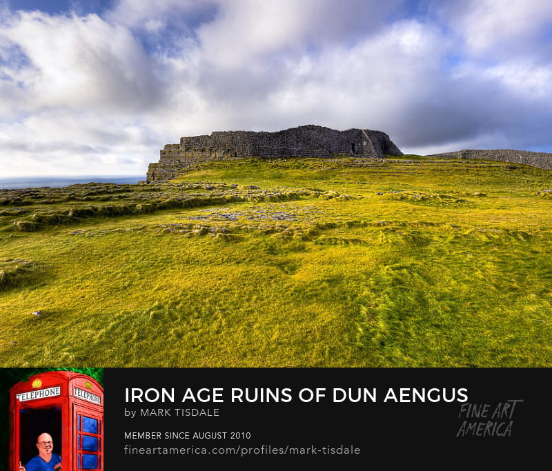 Dun Aengus Irish iron age ruins art print