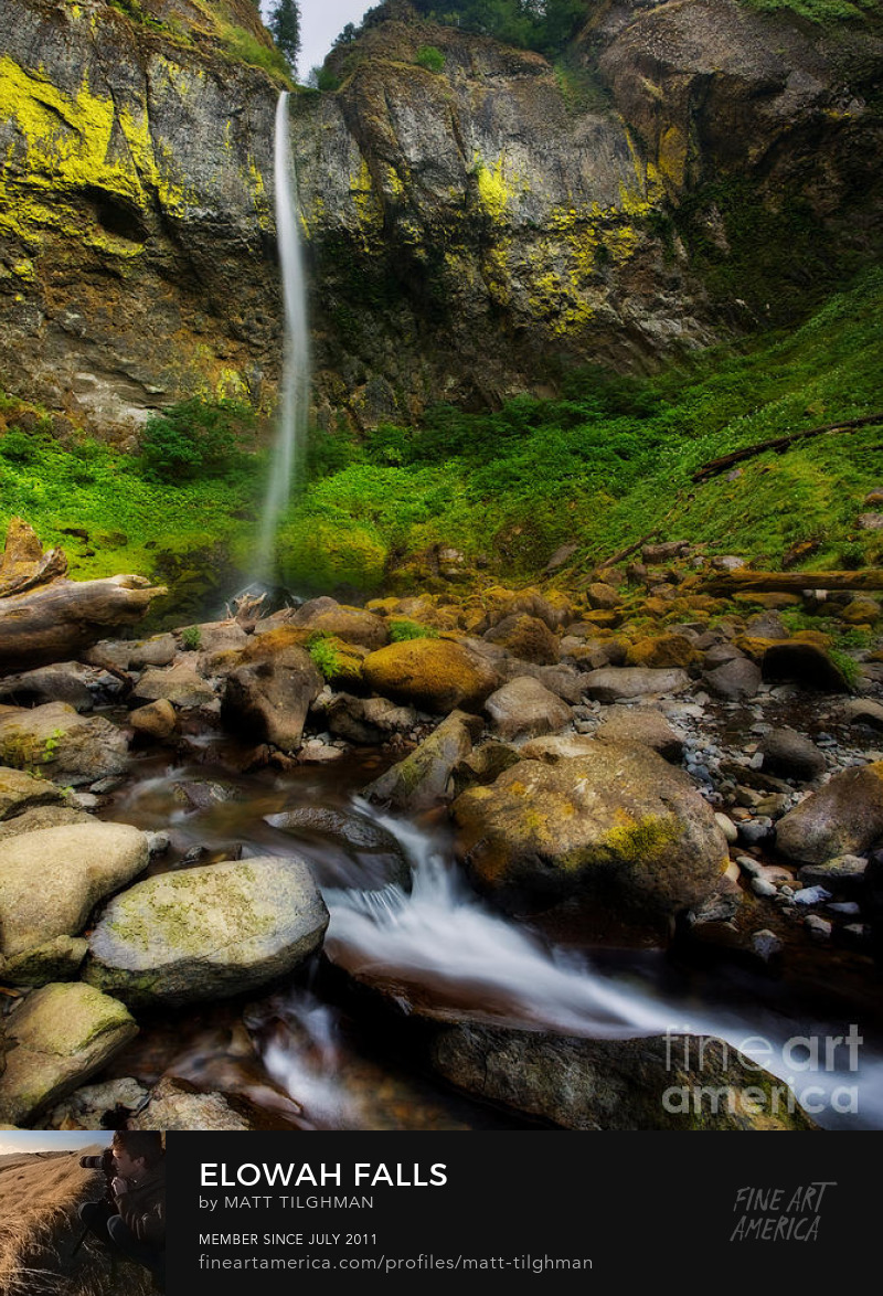 Elowah Falls Art Online