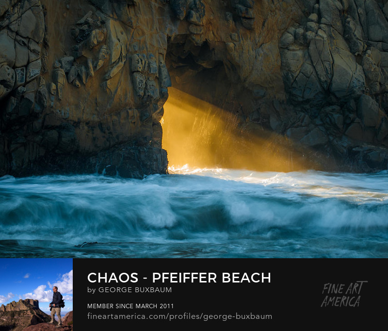 Chaos Pfeiffer Beach Big Sur California George Buxbaum