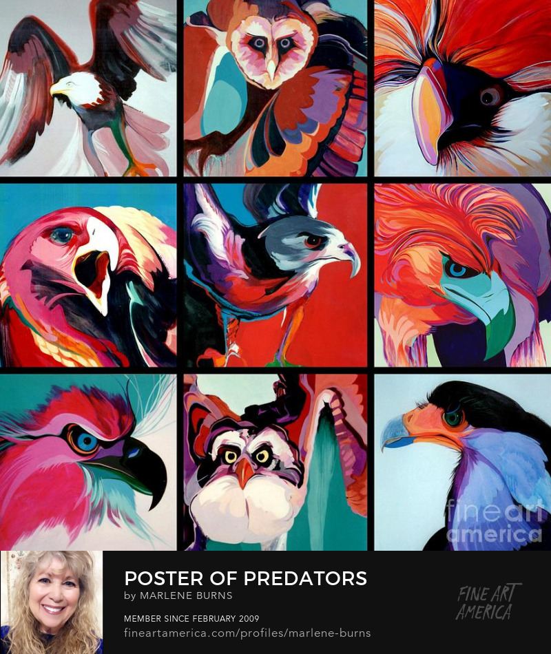 Marlene Burns paintings of predators
