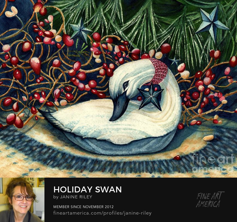 Janine Riley Christmas goose