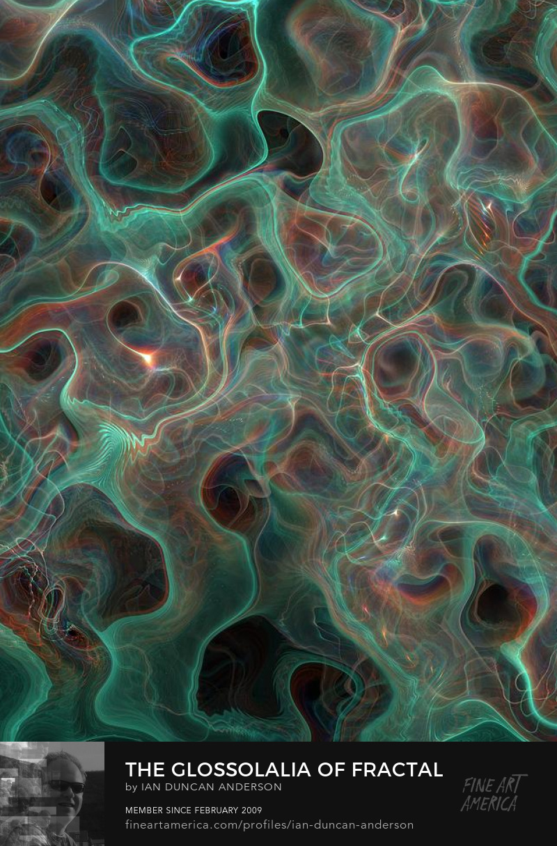 buy print of 'The glossolalia of fractal waters' at Fine Art America