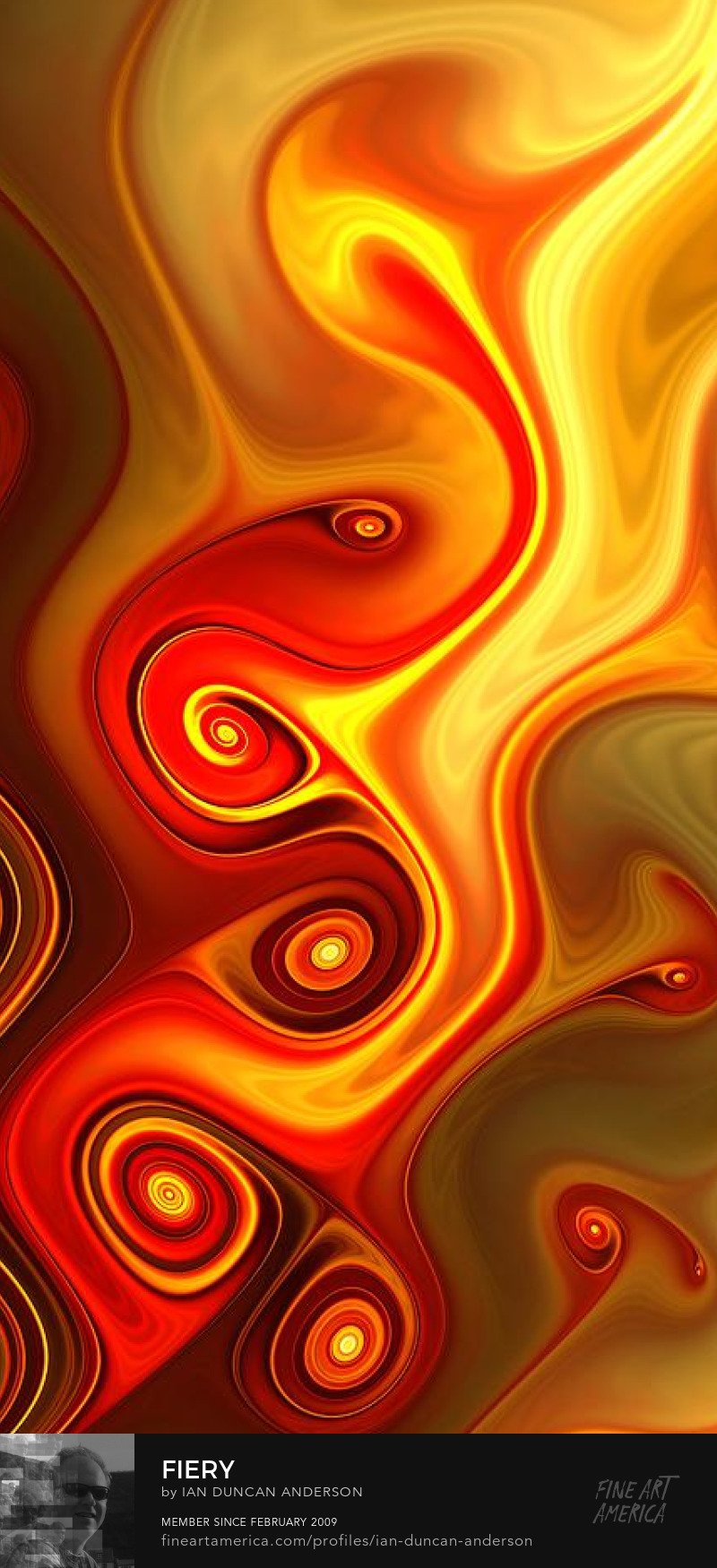 buy print of 'Fiery' at Fine Art America
