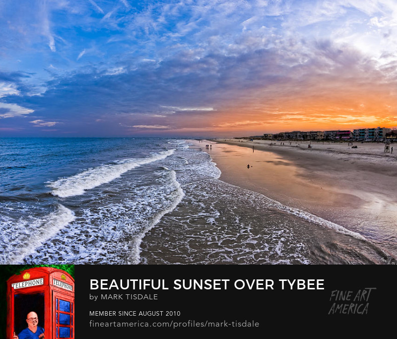 Tybee Island Beach Sunset Print