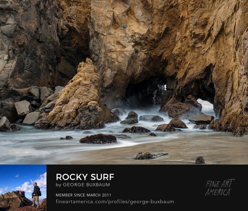 Pfeiffer Beach Big Sur rocky surf george buxbaum