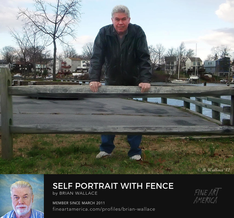 Self Portrait With Fence by Brian Wallace