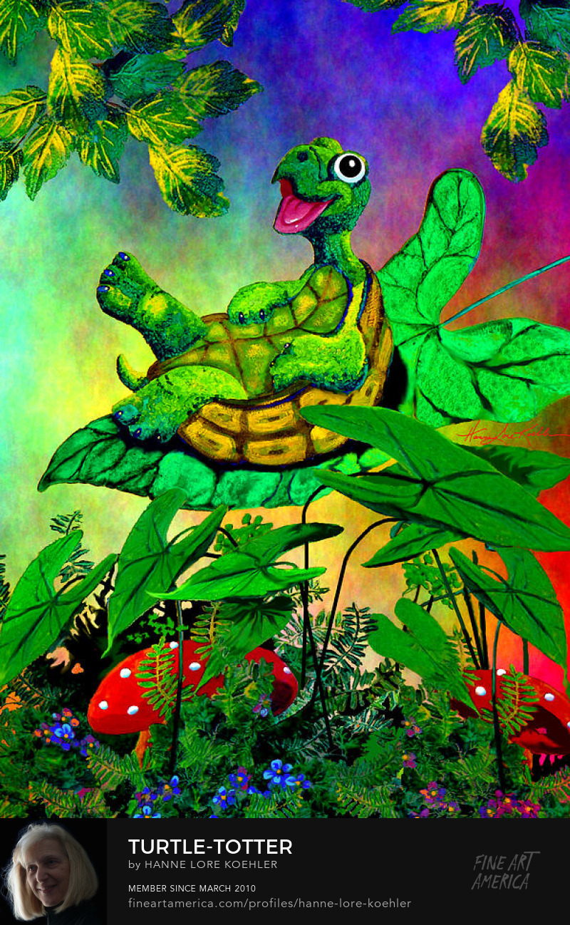 Turtle Painting For Children
