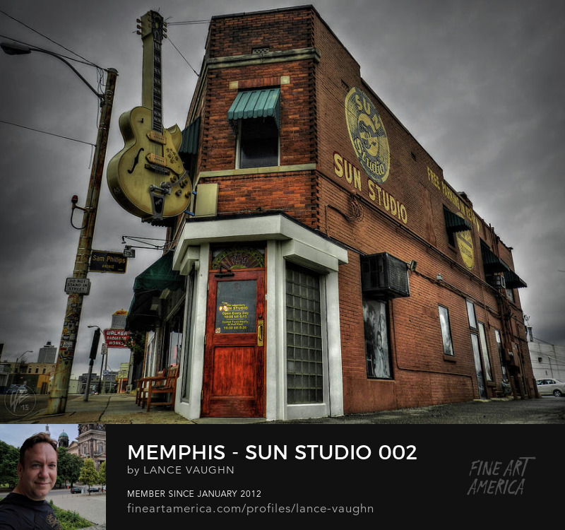 Memphis Sun Studio art photograph by Lance Vaughn