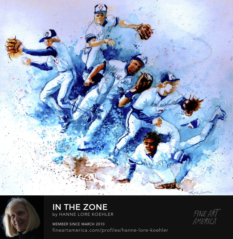 Sports Action Baseball Art Prints direct from artist