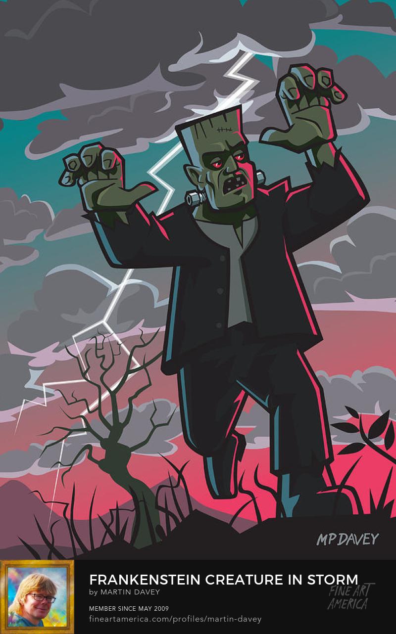 frankenstein-creature-in-storm-martin-davey
