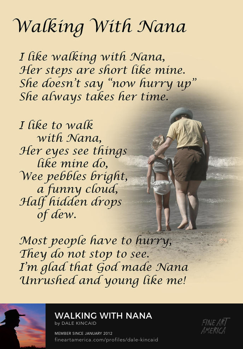 Walking with nana by dale kincaid Art Online
