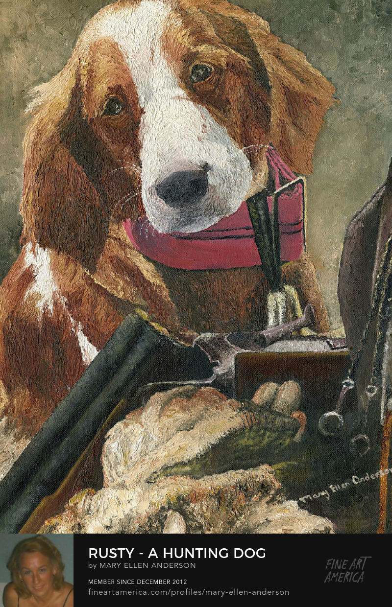 Rusty a Hunting Dog by Mary Ellen Anderson' title=