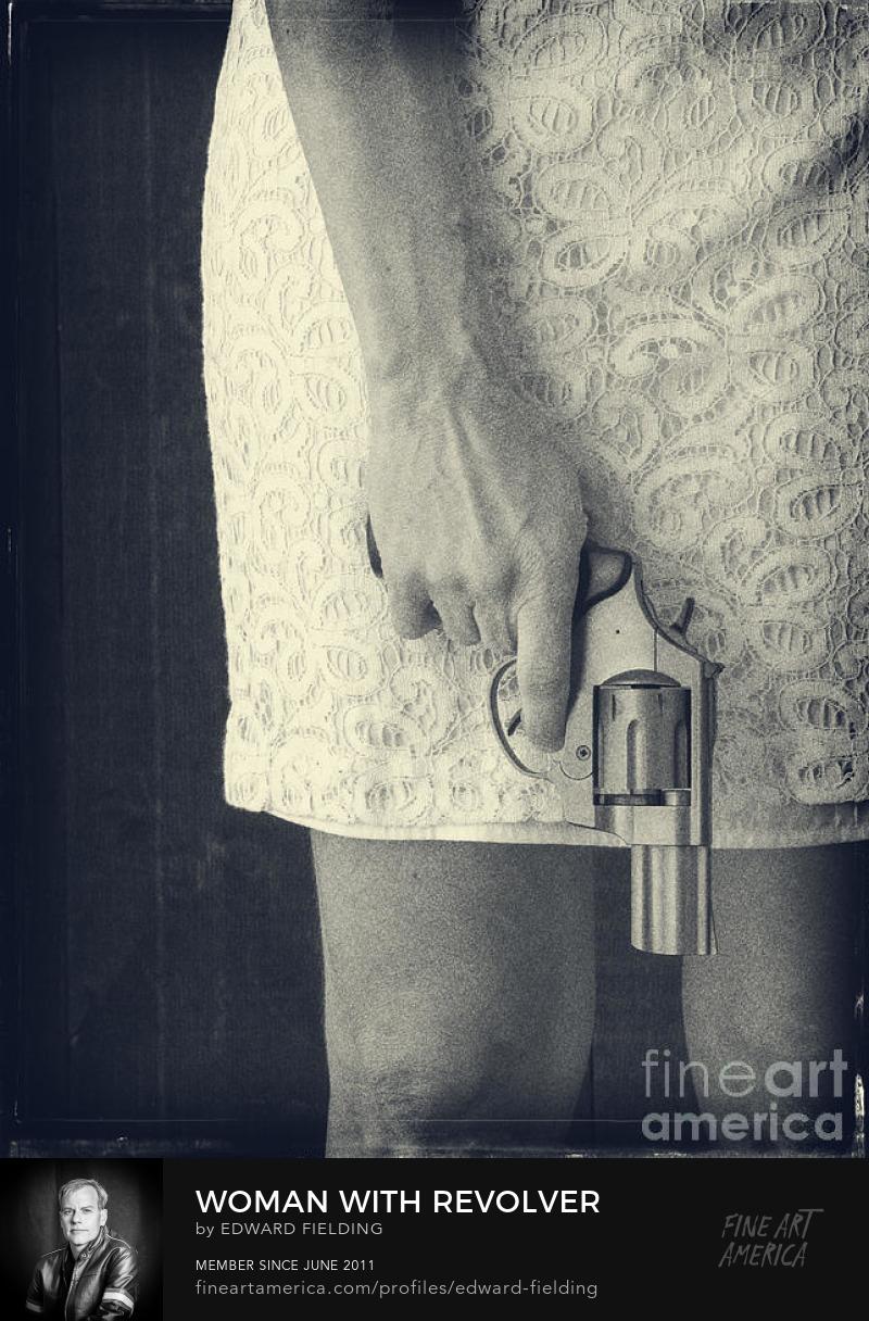 gun woman Photography Prints