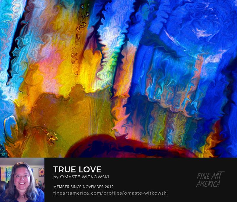 True Love Liquid Paint Art Prints