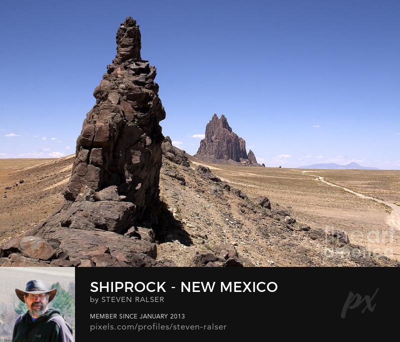 Shiprock with dike northwest New Mexico