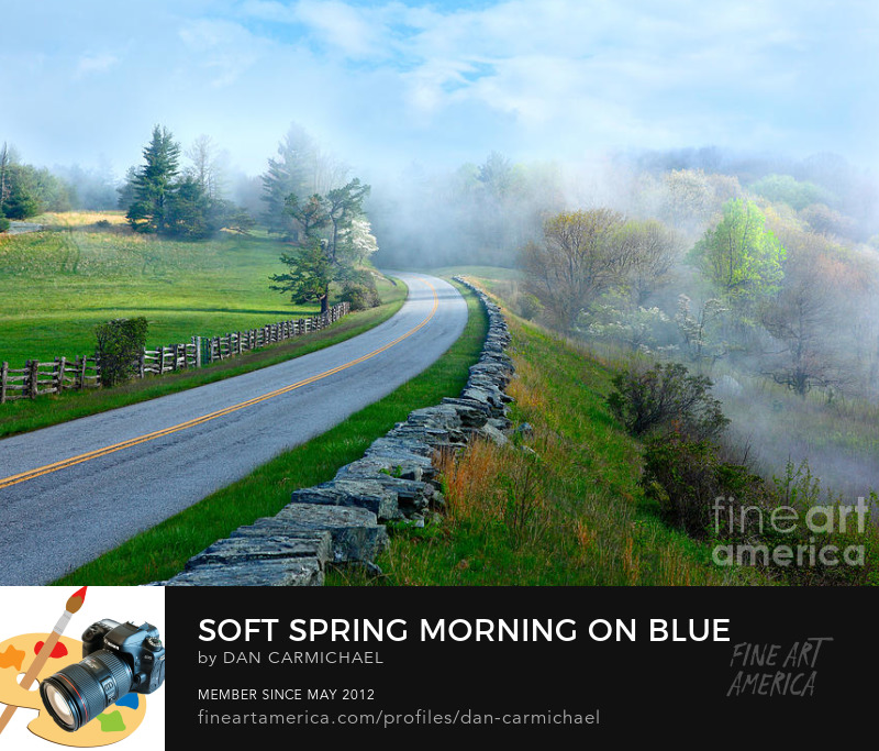Blue Ridge mountains parkway fine art