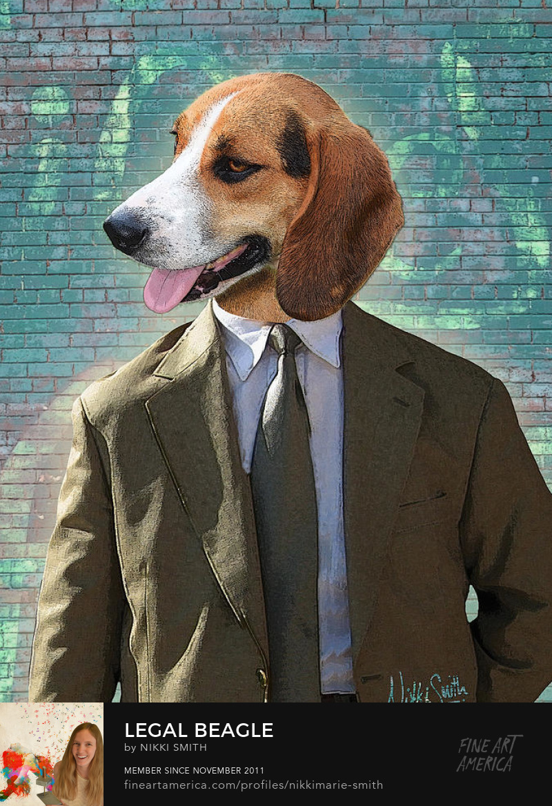 Dog in a Suit Artwork